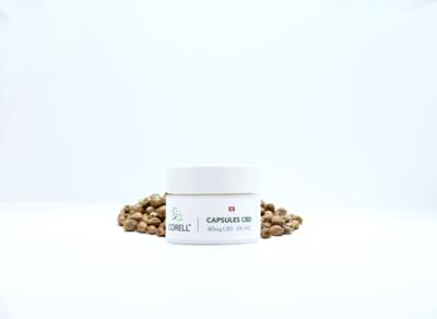 Corell -  Capsules natural CBD 80mg CBD (20 capsules)
