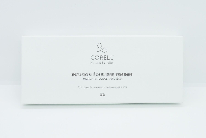 Corell - Infusion CBD 'Équilibre féminin' par nano émulsion (10 sachets)