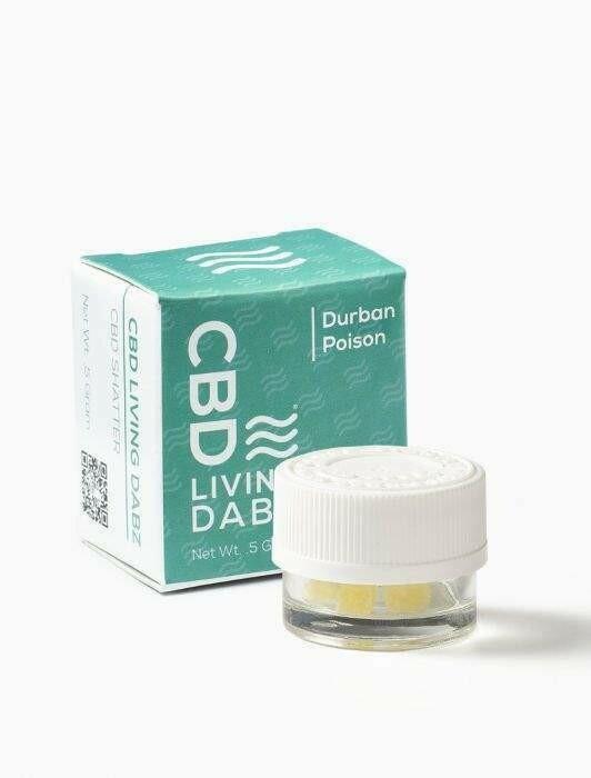 CBD LIVING - DABZ SHATTER DURBAN POISON 500mg