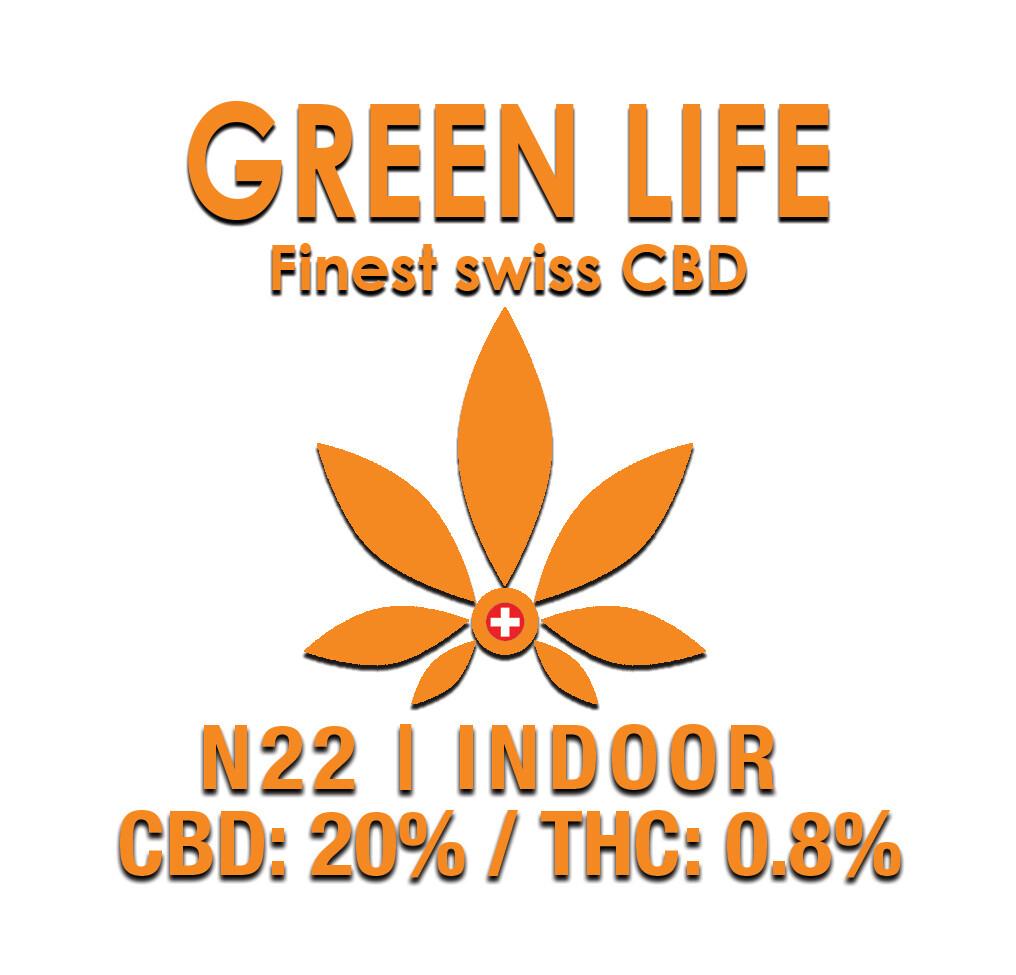 GREEN LIFE - NORTHERN LIGHT N22 CBD 20% CBD / THC : 0.8%