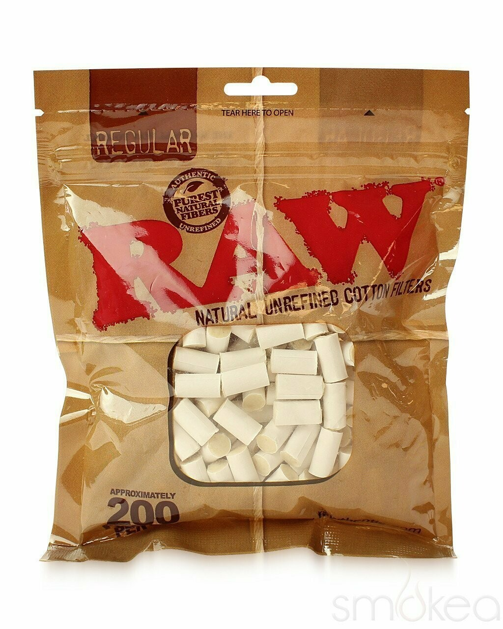Raw - Natural unrefined cotton filters regular