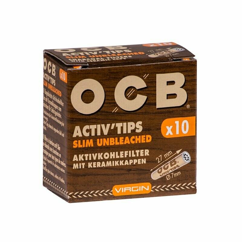 OCB - Activ'tips slim non blanchis, 10pièces