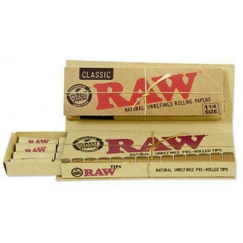 Raw - Classic 1 1/4 size + pre-rolled tips