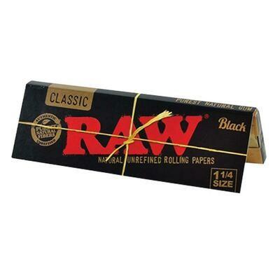 Raw - Classic black 1 1/4 size