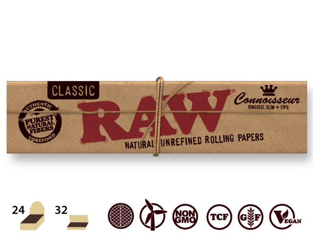 Raw - Classic king size slim + tips