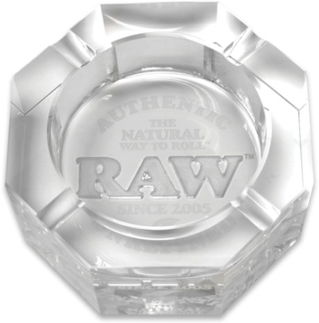 Raw - Lead-free crystal glass ashtray