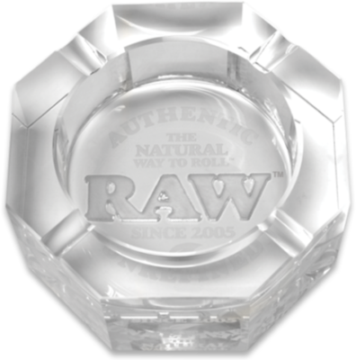 Raw - Lead-free crystal glass ashtray