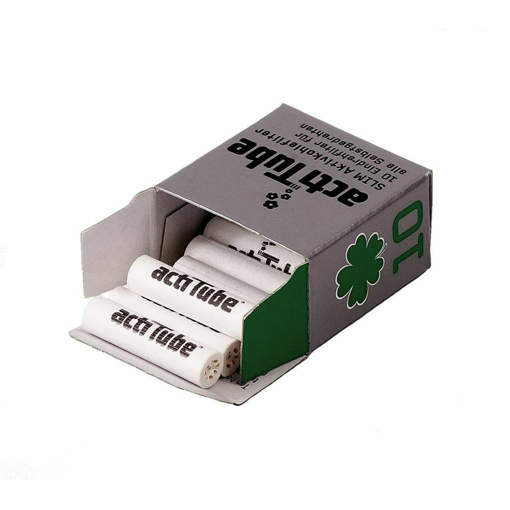 Acti Tube - Slim charcoal filter, 10 pcs