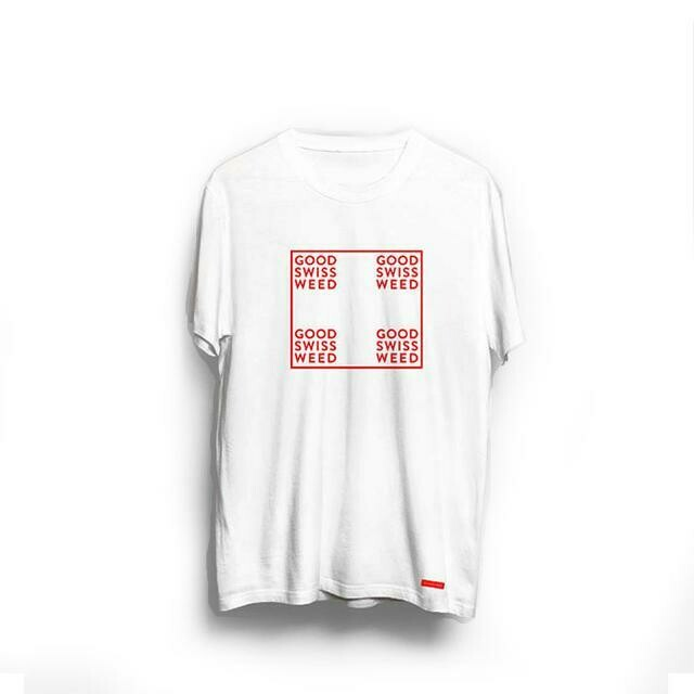 "Avengarde - T-shirt ""Good Swiss Weed"" blanc"