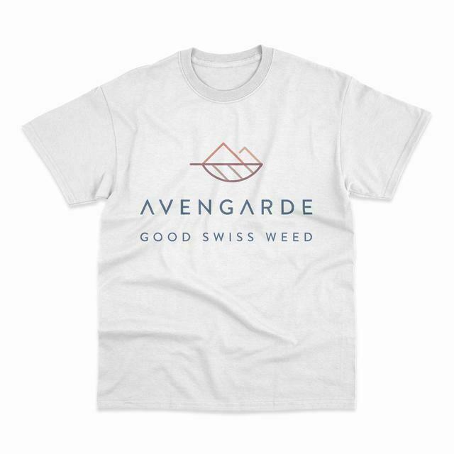 "Avengarde - T-shirt ""Good Swiss Weed"" blanc (montagne)"