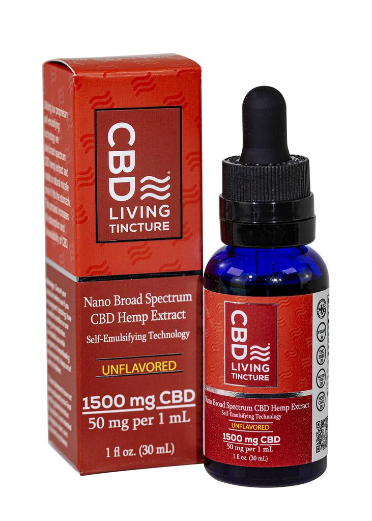 CBD Living - Tincture CBD broad spectrum 1500mg