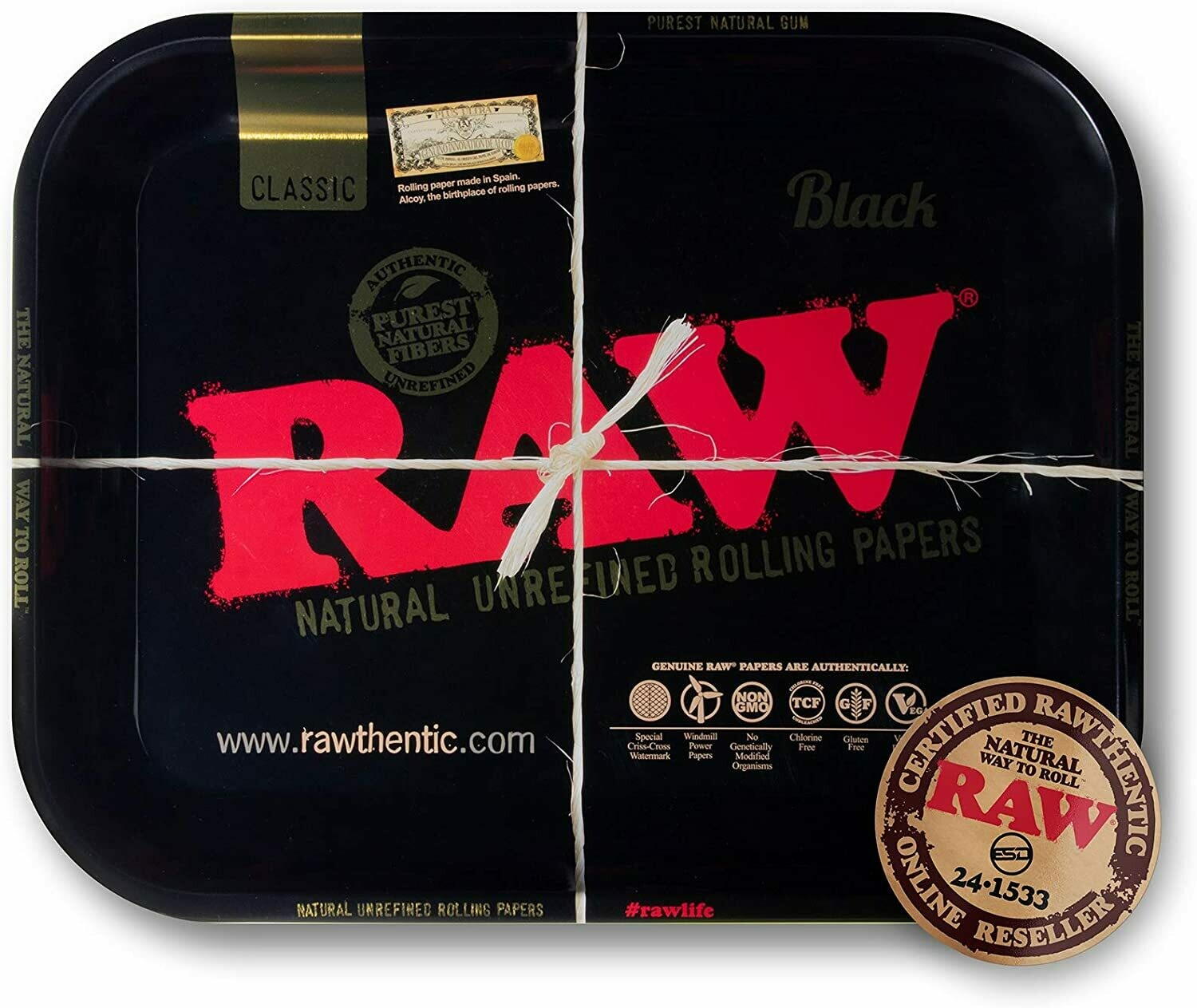 Raw - Black tray large