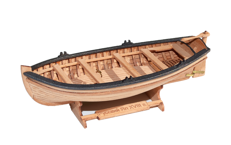 Jolly-boat (4-oar) 1:72 + Figurines