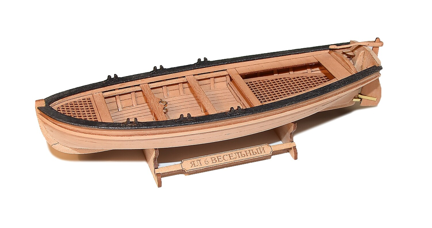 Jolly-boat (6-oar) 1:72+ + Figurines