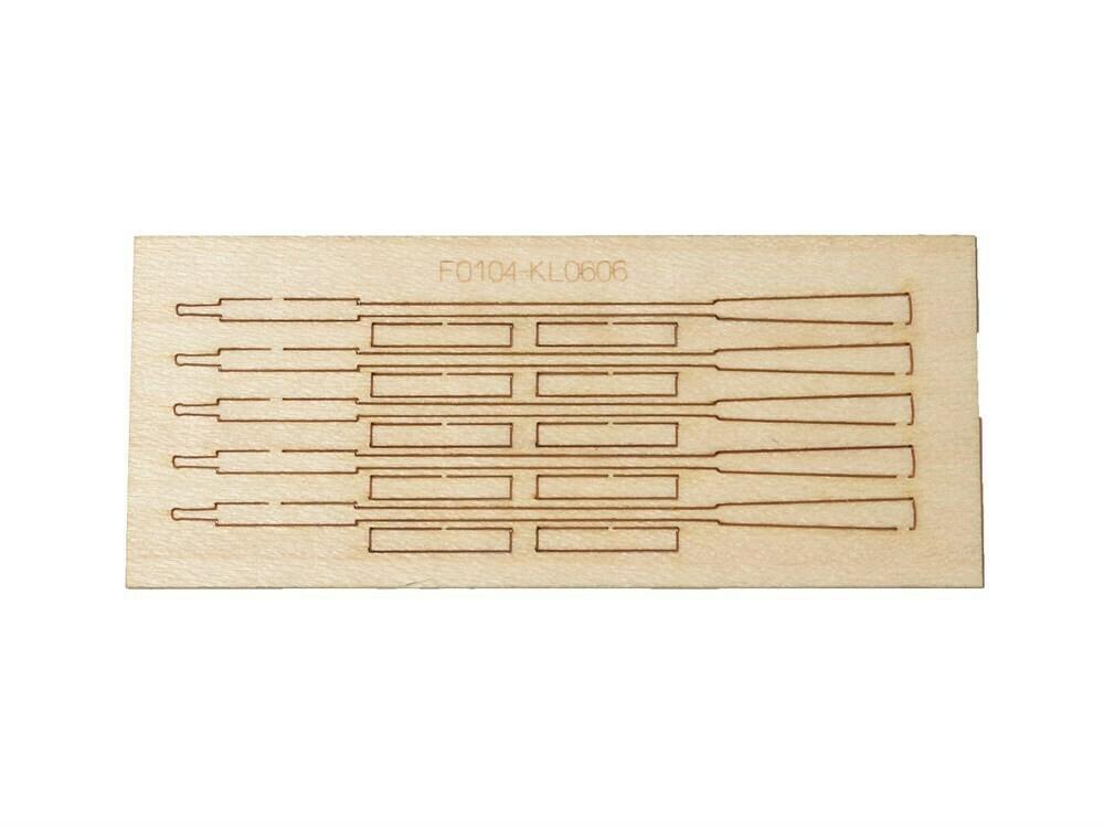 Roller oars 54mm blanks for 4pcs
