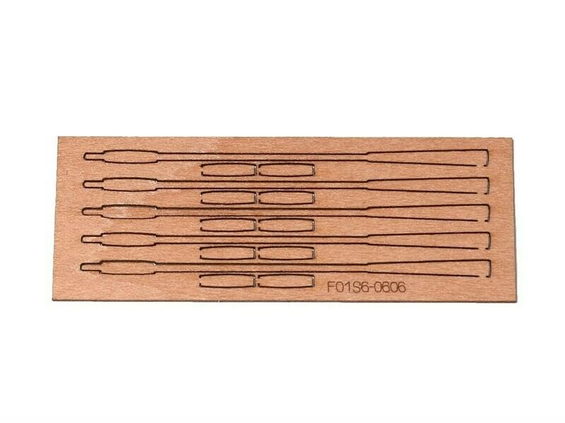 Roller oars 40mm blanks for 4pcs