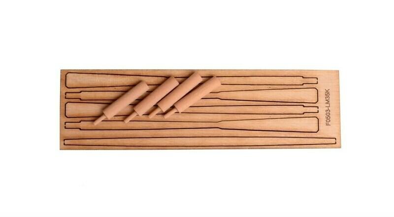 Roller oars 103mm blanks for 4pcs