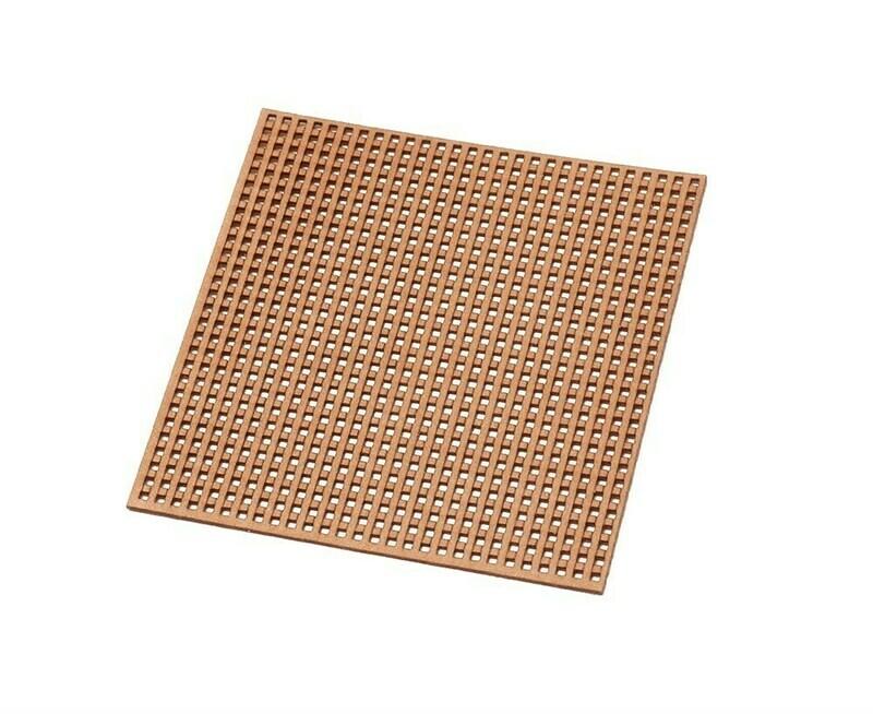 Wood grating square 0,4mm