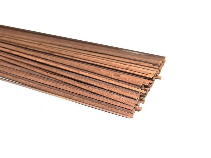 Makore slats, thickness 0.5mm 5pcs