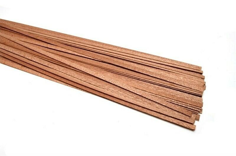 Sapele slats, thickness 0.5mm 5pcs