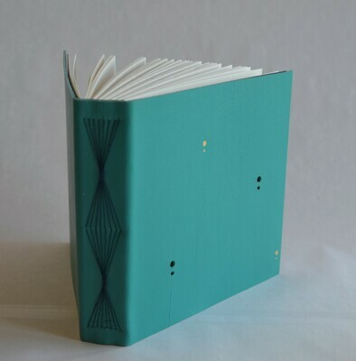 Leather Journal Turquoise and Blue
