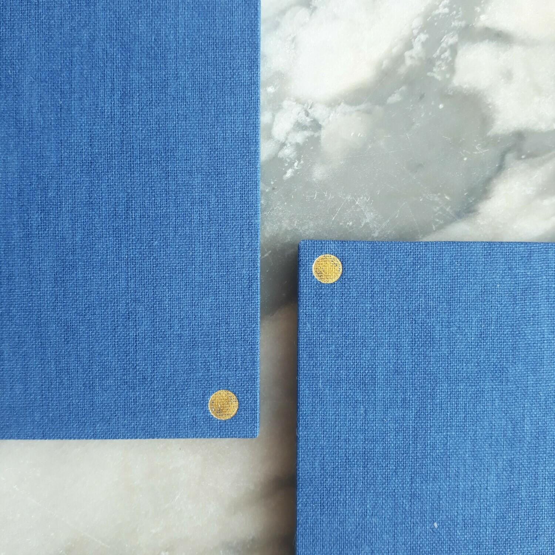 Concertina sketchbook in denim blue