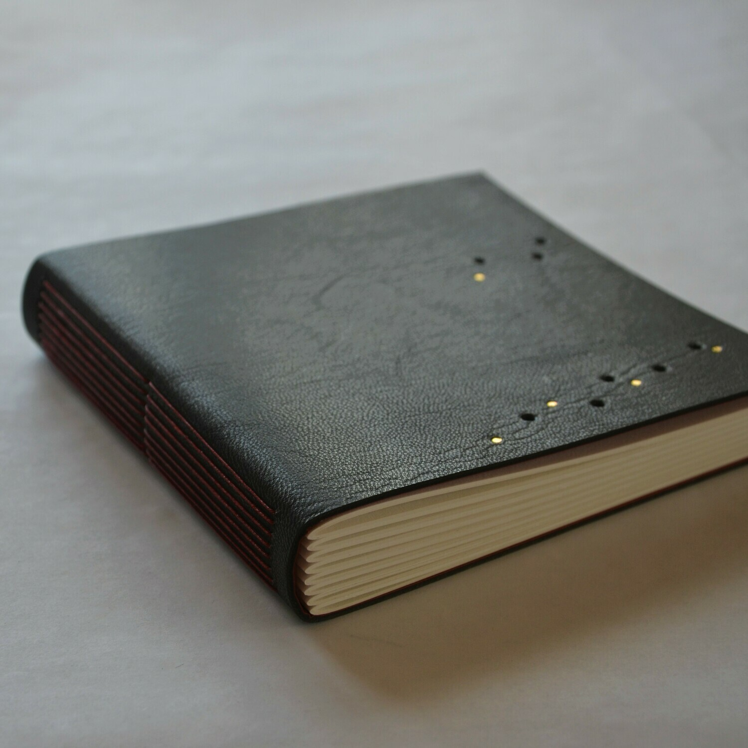 Leather Journal Chocolate Brown and Red
