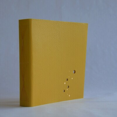 Leather Sketchbook Yellow and Orange