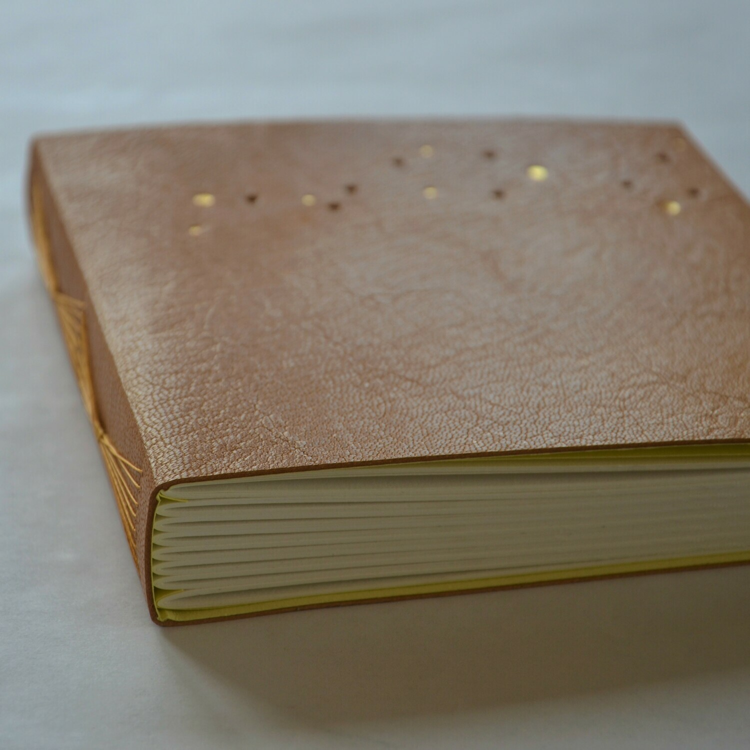 Leather Journal Tan and Yellow
