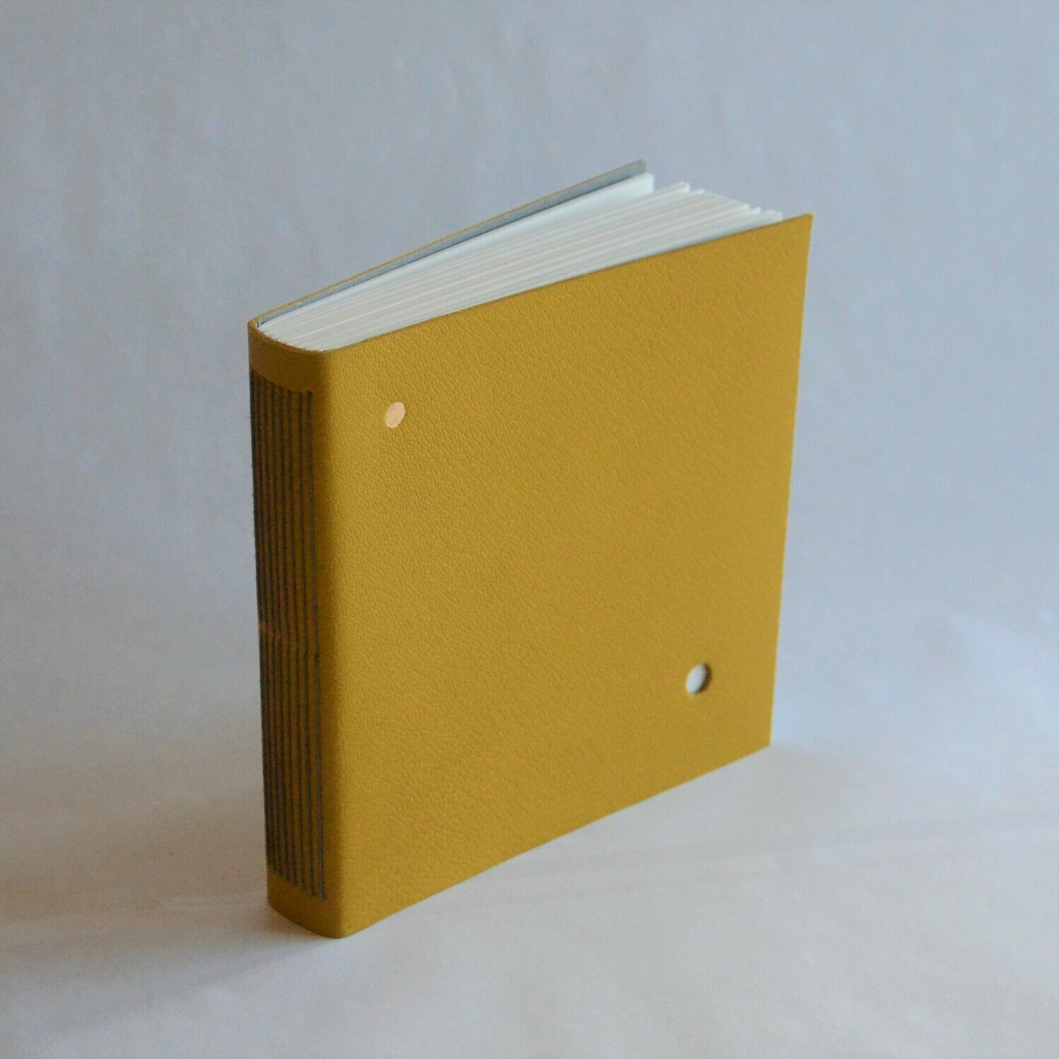 Leather Sketchbook Yellow and Grey