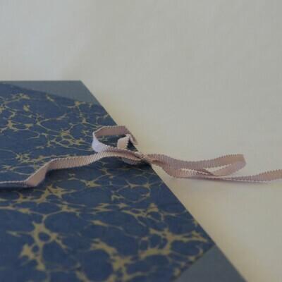 A4 Portfolio in Grey Blue Gold