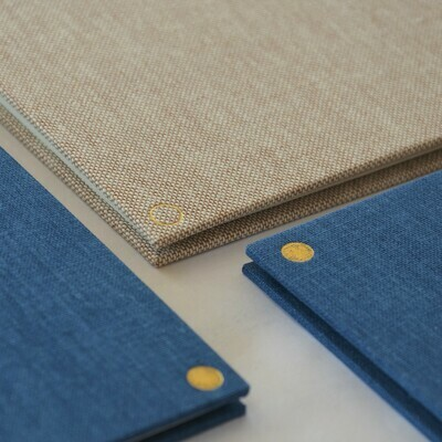 Small Concertina Sketchbook Linen