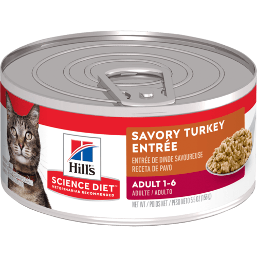 Adult Savory Turkey Entree Cat Food