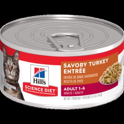 Adult Savory Turkey Entree Cat Food