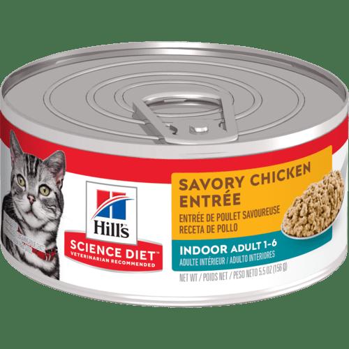 Adult Indoor Savory Chicken Entree cat food