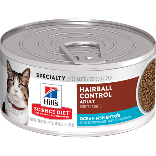 Adult Hairball Control Ocean Fish Entree cat food