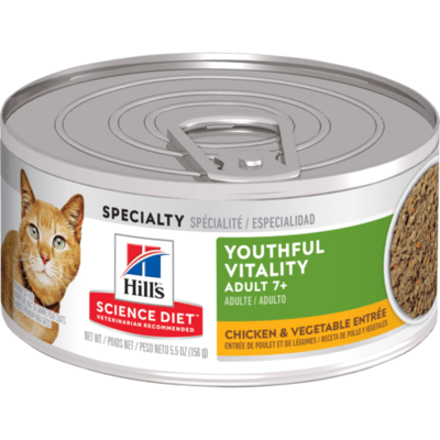 Youthful Vitality Adult 7+ Chicken & Vegetable Entree cat food