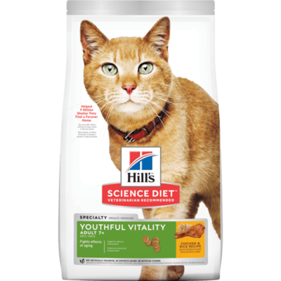 Youthful Vitality Adult 7+ Chicken & Rice Recipe cat food