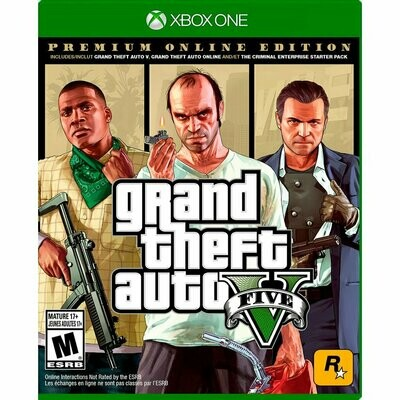 Juego Grand Theft Auto V GTA 5 Premium Online Edition Xbox One