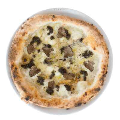 Pizza Cacio e Pepe avec Truffe