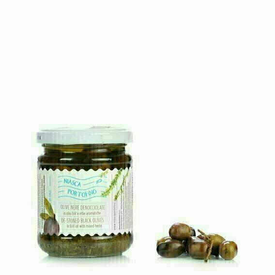 Olives dénoyautées aux herbes aromatiques 180g
