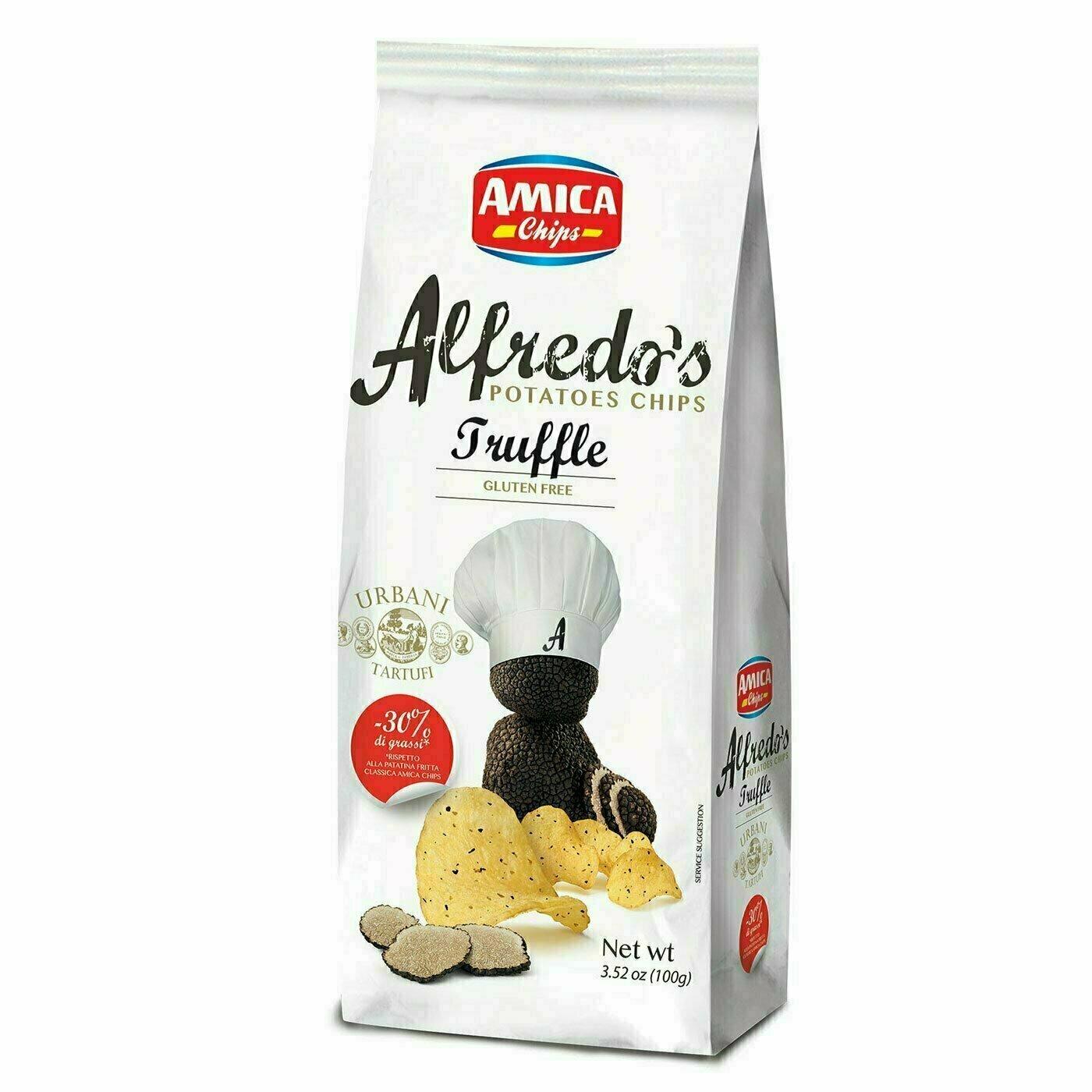 Chips Alfredo aromatisées à la truffe 100G