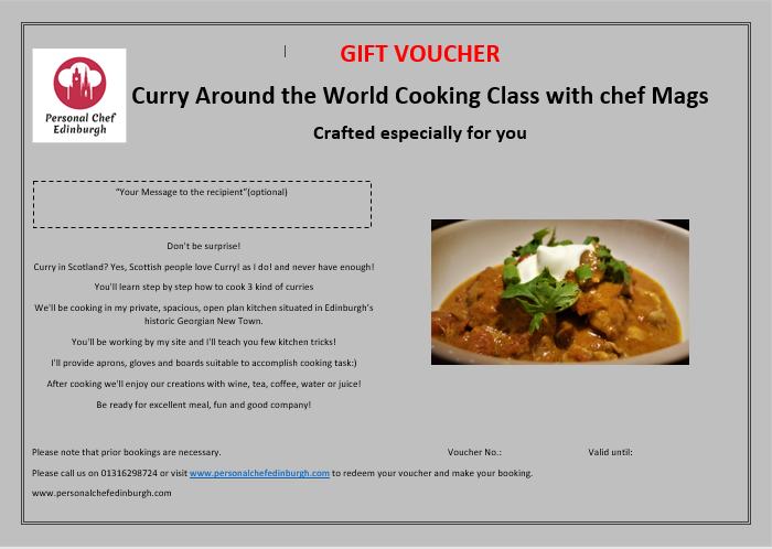 Curry Around the World Cooking Class