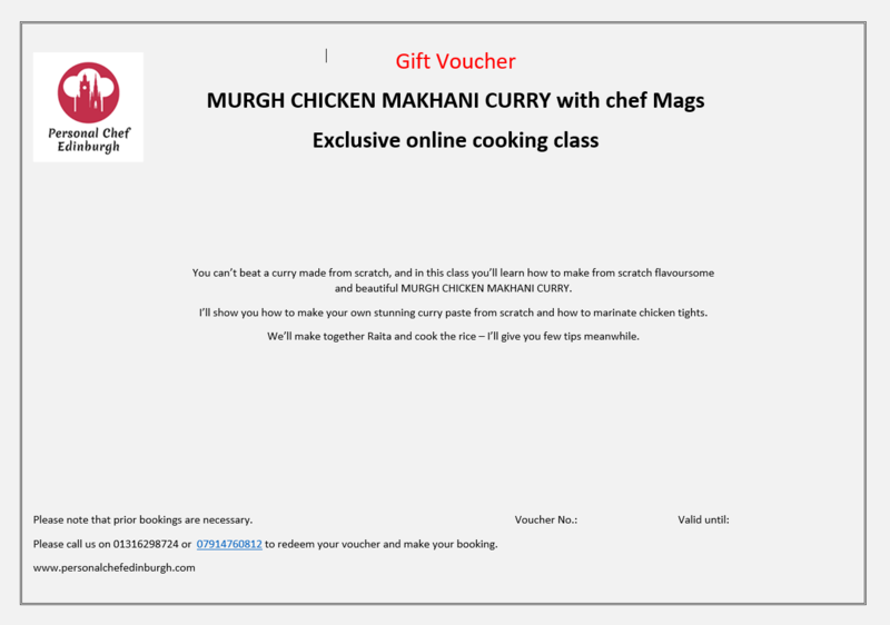 Online: Murgh Chicken Makhani Curry