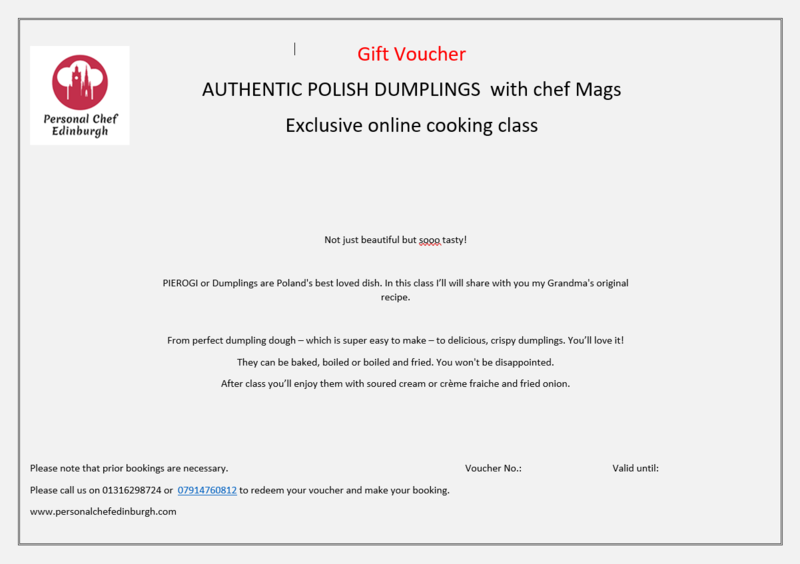 Online: Authentic Polish Dumplings
