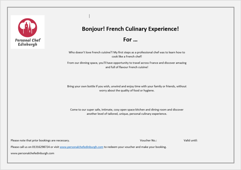 Bonjour! French Culinary Experience!