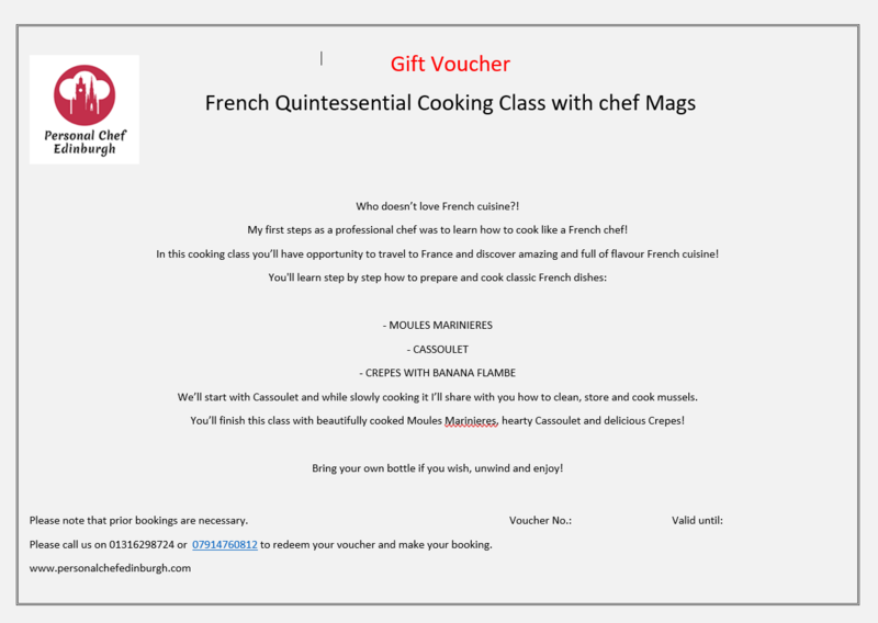 French Quintessential Cooking Class
