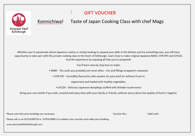 Konnichiwa! Taste of Japan Cooking Class