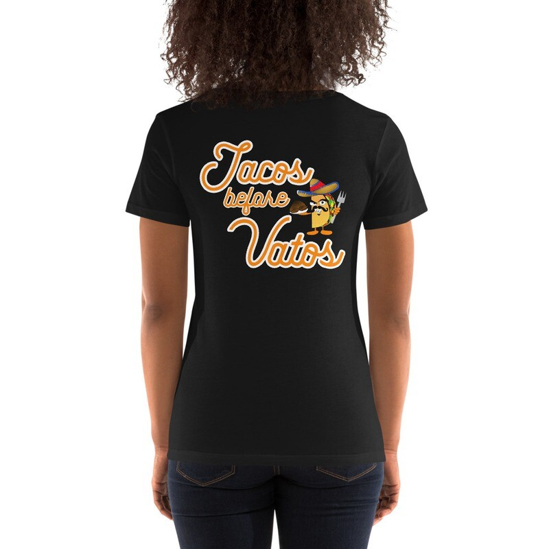 Tacos Before Vatos (Ladies' Scoopneck T-Shirt)