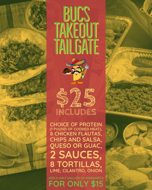 SUNDAY ONLY | Bucs Takeout Tailgate